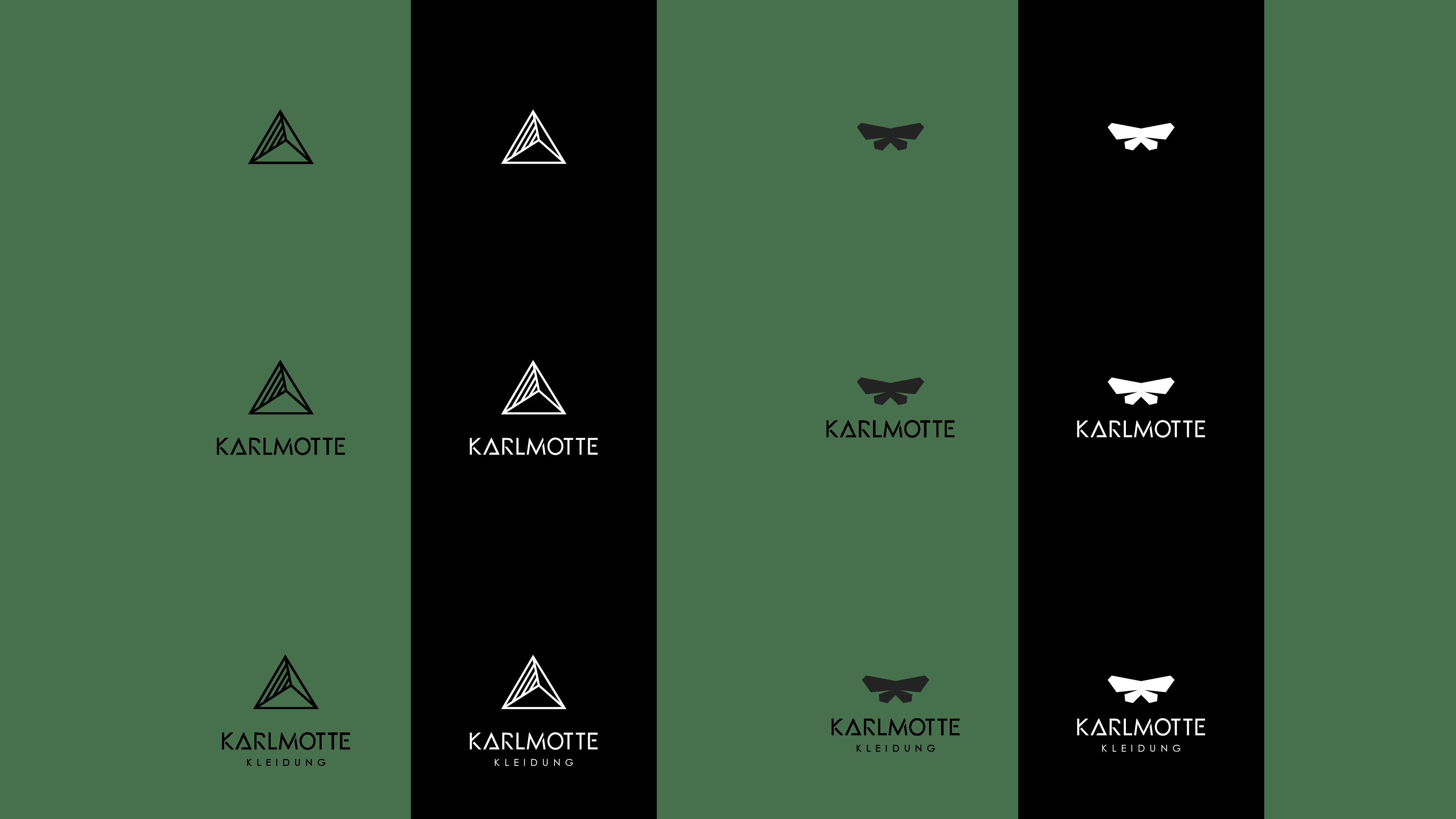 Karlmotte Logo Evolution_Logoübersicht